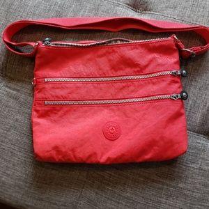 Kipling Alvar crossbody or shoulder bag red